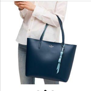 Late Spade Navy Blue Tote Bag—NWT
